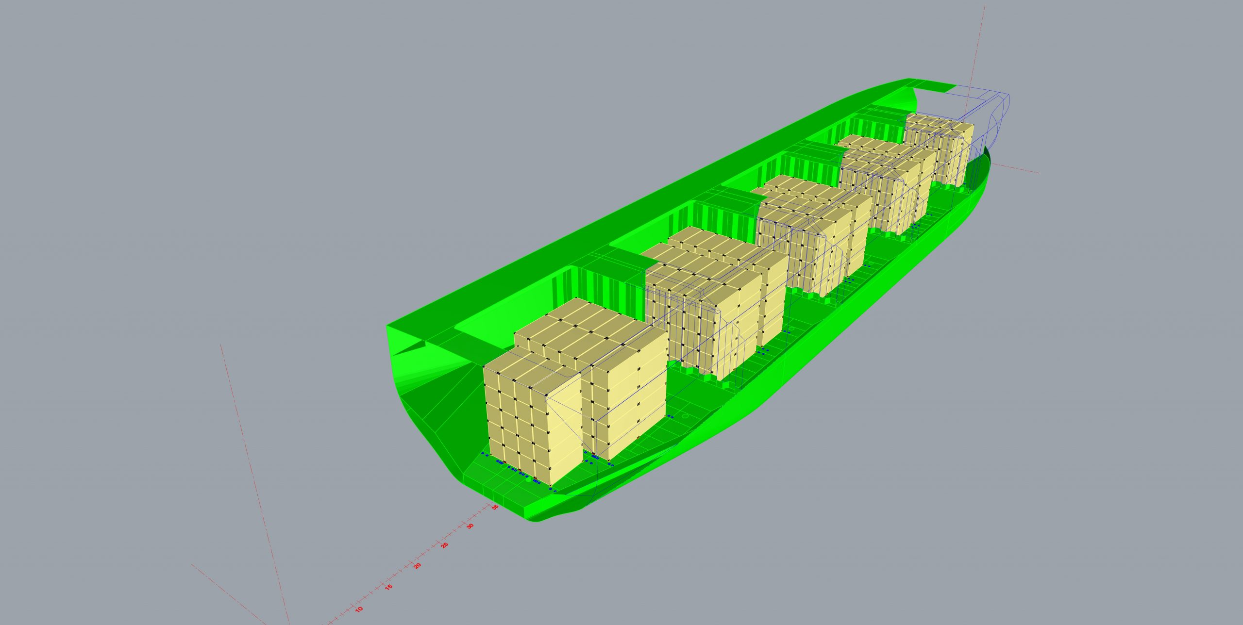 Project for modification of bulker for carryieng containers